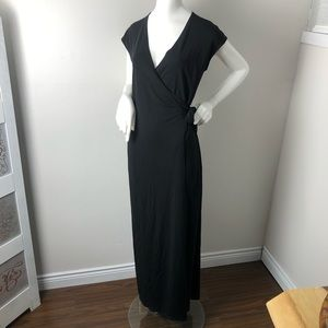 Lauren Ralph Lauren Black Wrap Maxi Dress
